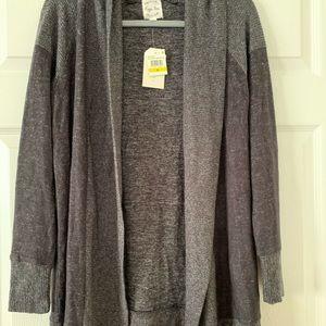 NWT Hippie Rose black & dark gray cardigan size M